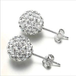 ❄️Rhinestone CZ Flower Bud Ball Earrings❄️